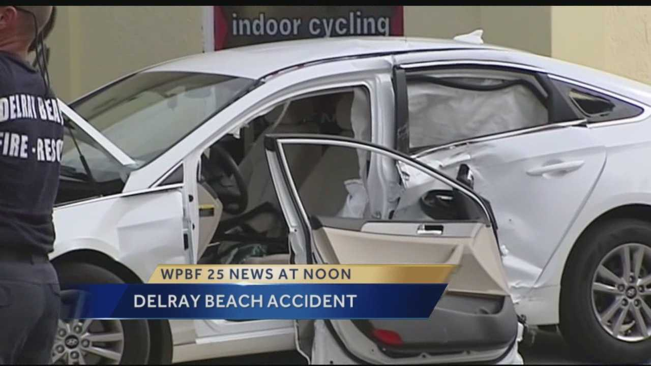 Some Delray Beach business owners want something done about a nearby intersection they say is a magnet for accidents. Fire rescue crews had to use the jaws of life to pull a man out of his car after it was crushed in an accident Wednesday morning.