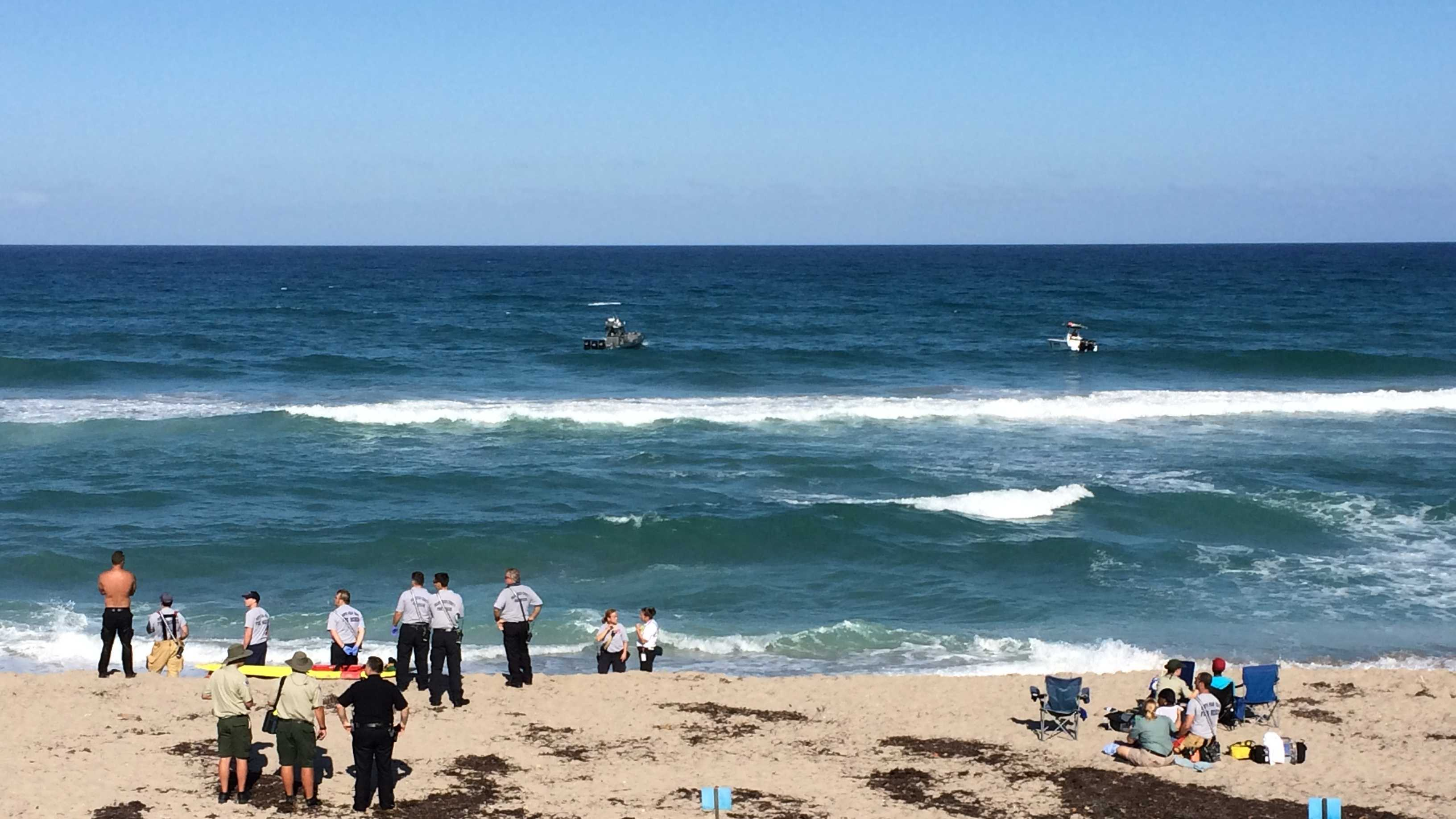 First responders were called to John MacArthur Beach Park in north Palm Beach late Saturday afternoon.