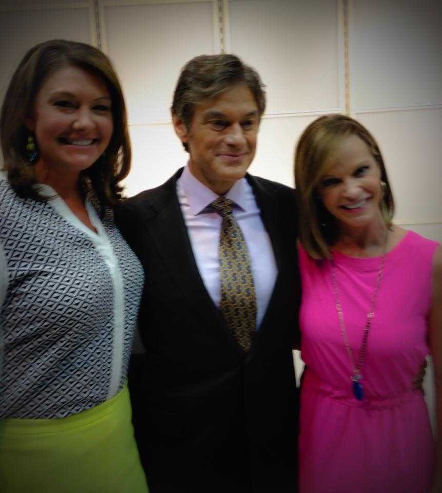 WPBF 25 News' Erin Guy along side Dr. Oz and WPBF First Alert Weather's Sandra Shaw!