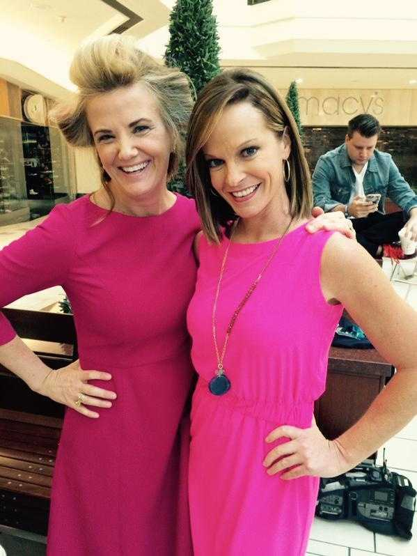 Pretty in pink! WPBF 25's Tiffany Kenney and Sandra Shaw behind the scenes during the Health & Wellness Festival.