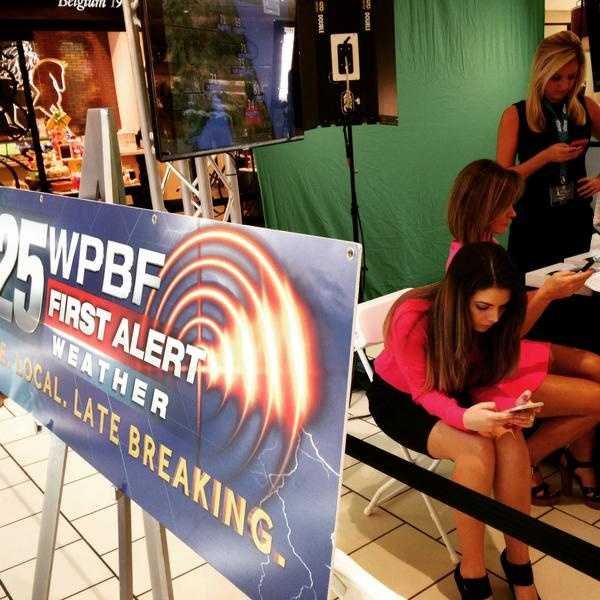 Always tracking weather! The ladies of the WPBF 25 News First Alert Weather Team at the weather wall.
