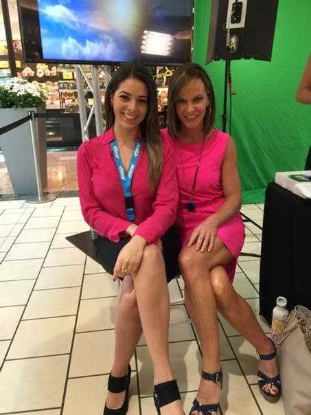 Photo via Vanessa Vinent: We are matching at the #DrOzFest bring your kids to have fun on the weather wall! @wpbf_sandra