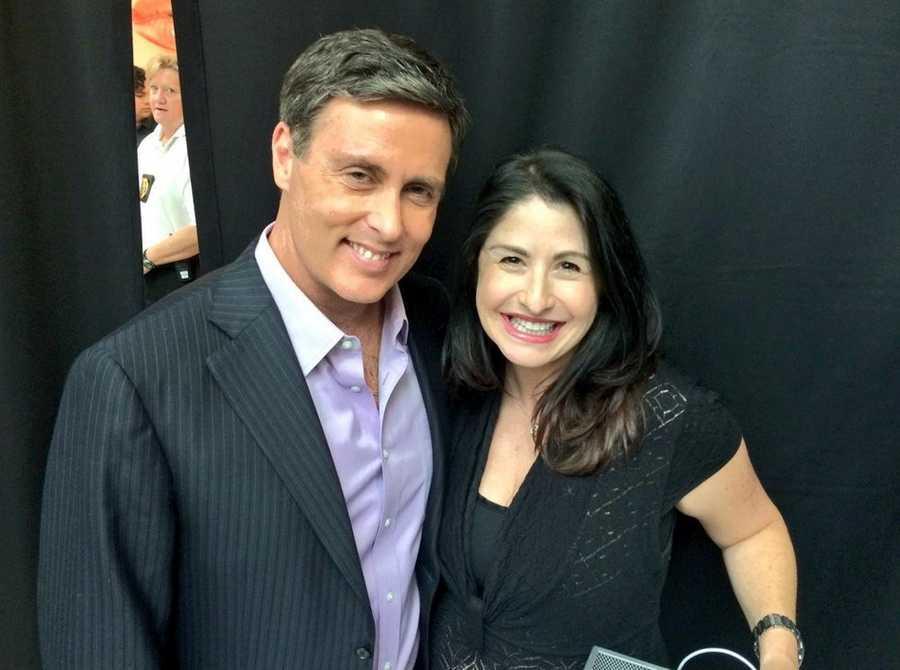 Todd McDermott alongside The KVJ Show's Virginia Sinicki!