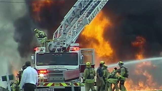 Biodiesel fire