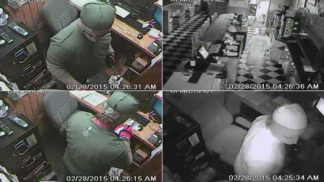 Surveillance images of the suspect. If you recognize the suspect or if you have any information on these cases to call the Port St. Lucie Police Department at (772) 871-5001 or Treasure Coast Crime Stoppers at 1-800-273 TIPS.