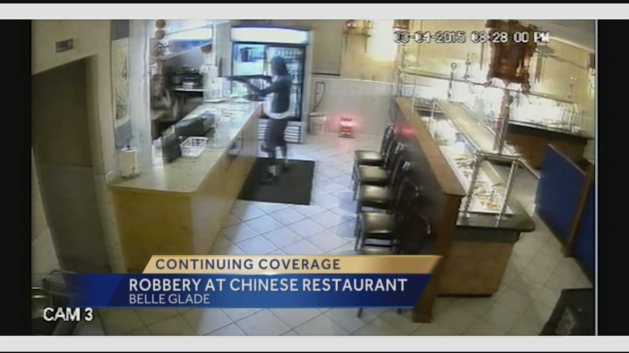 A man robs a Chinese restaurant in Belle Glade at gunpoint. Ari Hait reports.