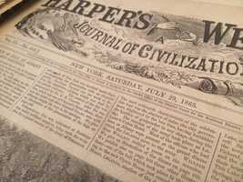 A North Palm Beach man is preserving newspapers from 1865.