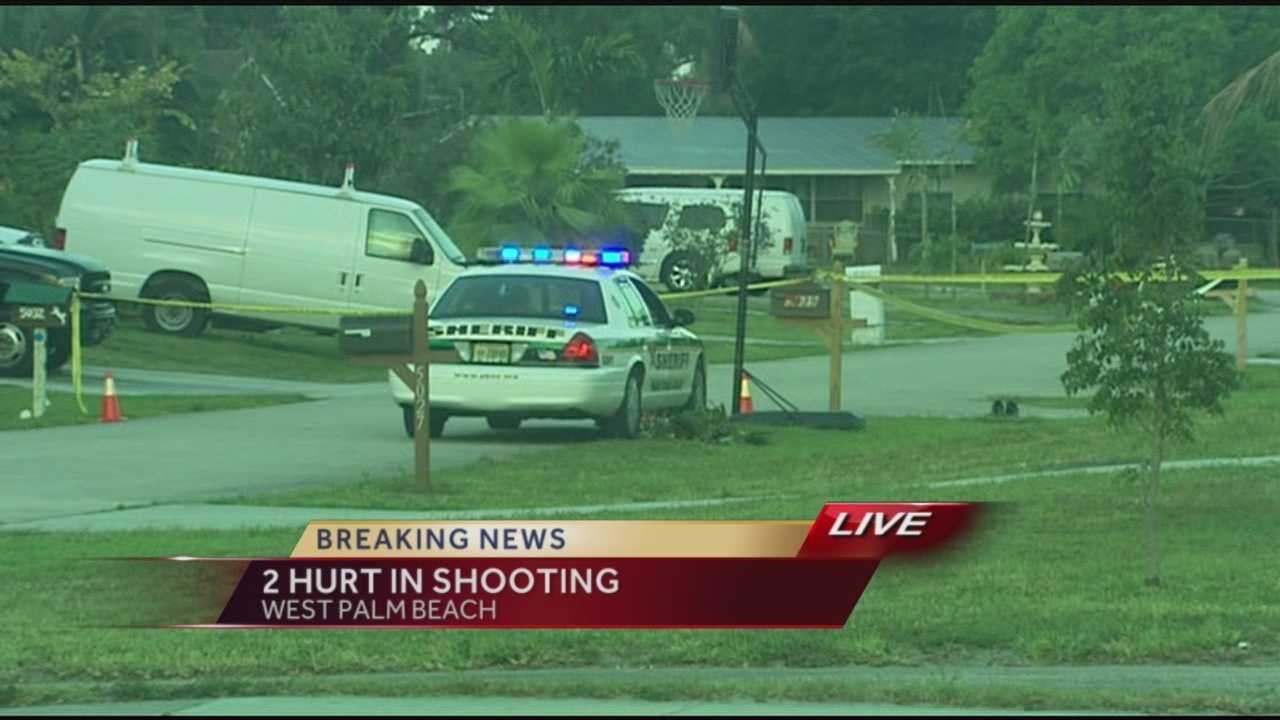 -  Two people were sent to the hospital after an early Thursday morning shooting in West Palm Beach.  According to sheriffs deputies close to twenty gunshots rang out in the neighborhood just of the 300 block of N. Haverhill Road.