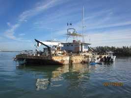 Barge afloat in 2012.