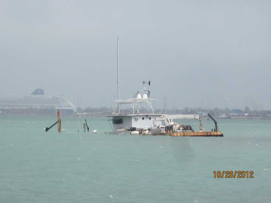 Barge sunk in Key Biscayne Oct. 2012