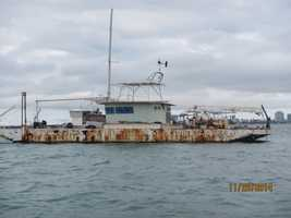 Side view of the barge.