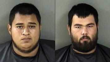 Adrian Zamarripa and Martin Corona arrested on suspicion of firing more than 100 shots at a family of four in Fellsmere.