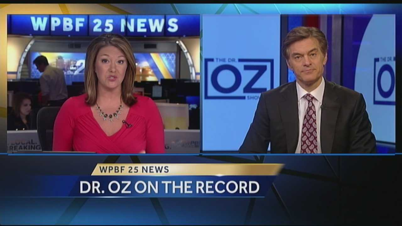Bu now you've heard Dr. Oz attacking his critics after a group of doctors sent a letter to Columbia University accusing Oz of promoting what they call quack treatments and cures. He addressed the issue on his show and on Tuesday, spoke exclusively to WPBF 25 News' ERin Guy -- and even shared a regret.