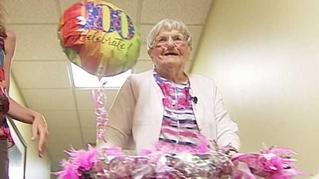 Woman Turns 100 With A Goal For The Future