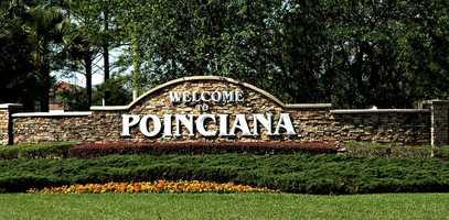 9. PoincianaPopulation:54,442Unemployment:6.1%Median income:$42,487Crime index:Average