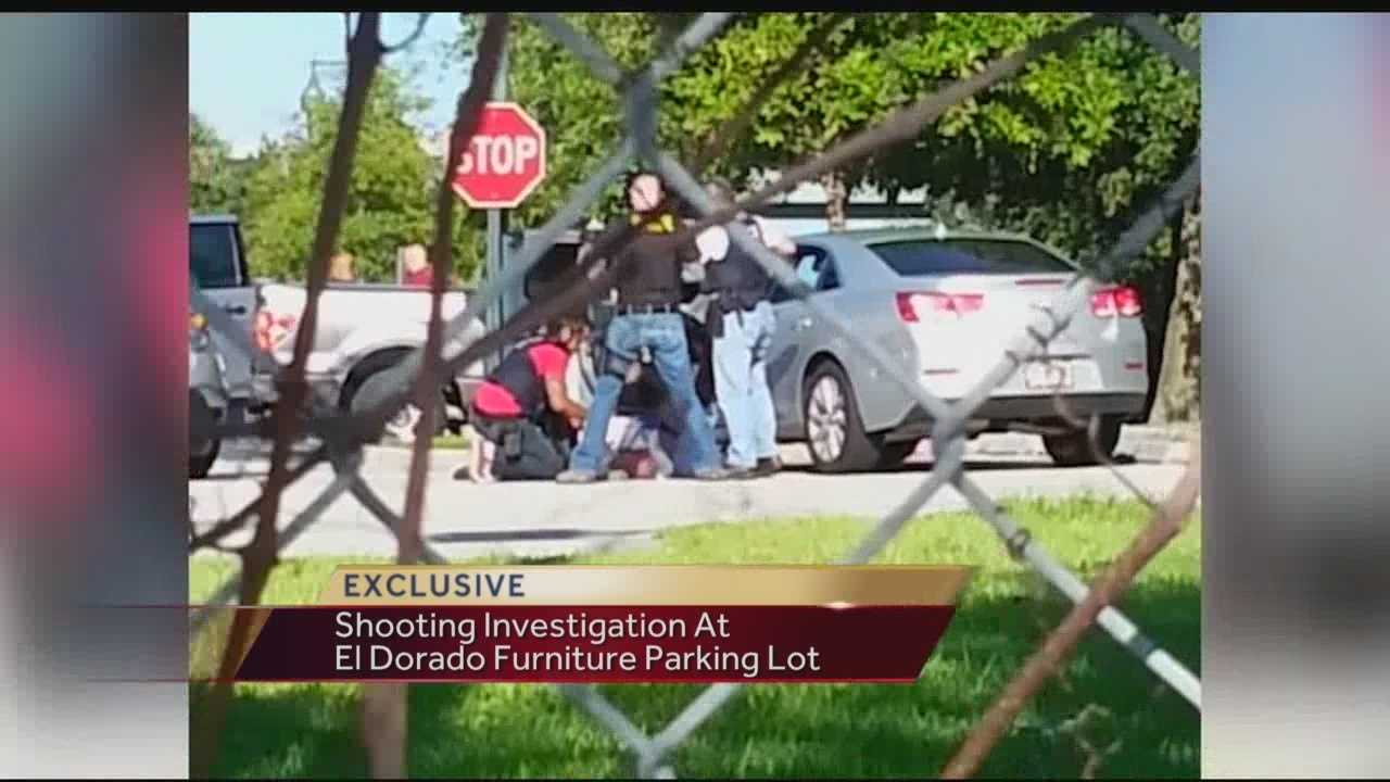Exclusive Video: Homeland Security Takedown Outside Of WPB Furniture Store.  Shooting Outside El Dorado ...