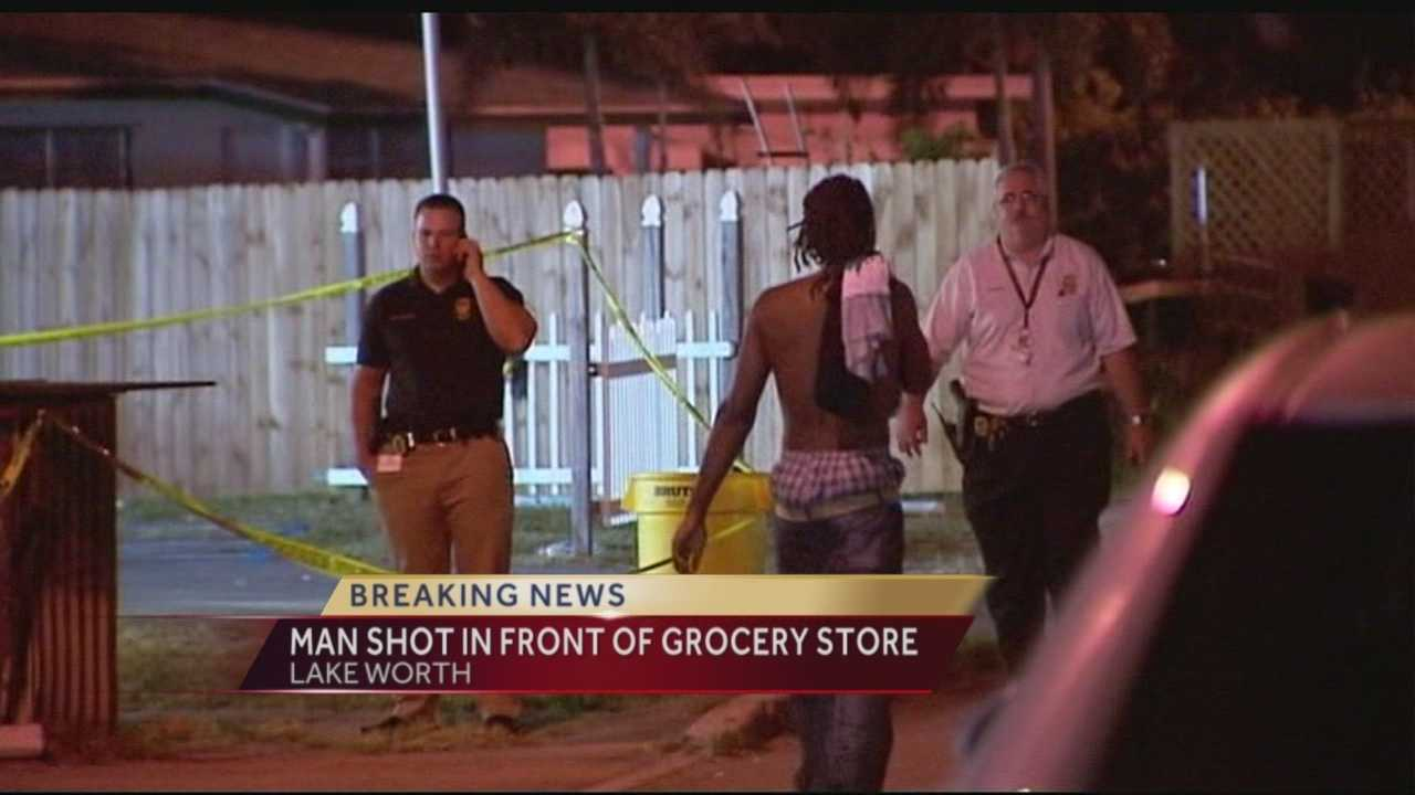 A man shot outside a Lake Worth grocery store early Wednesday morning is expected to survive, according to investigators with the Palm Beach County Sheriff's Office.