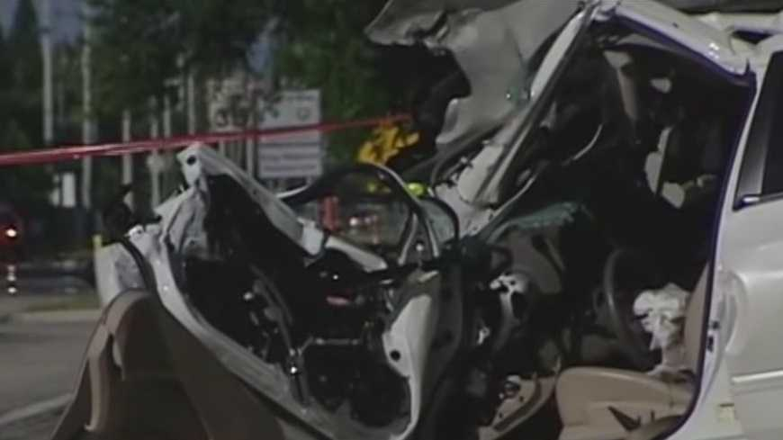 Three people were injured, two of them in critical condition, after a serious crash in Port Salerno. Ari Hait reports.