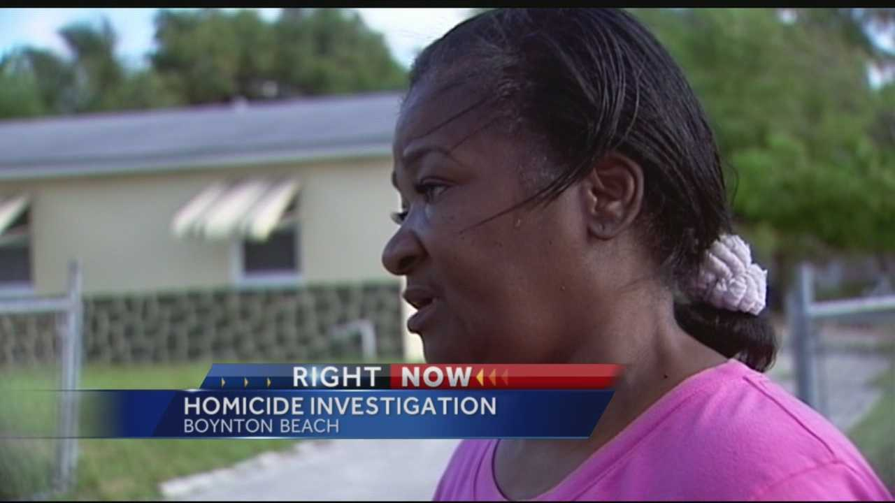 Boynton Beqach police are trying to track down a killer after a man was shot to death right at his front door. Chris McGrath reports and spoke to the victim's mother.