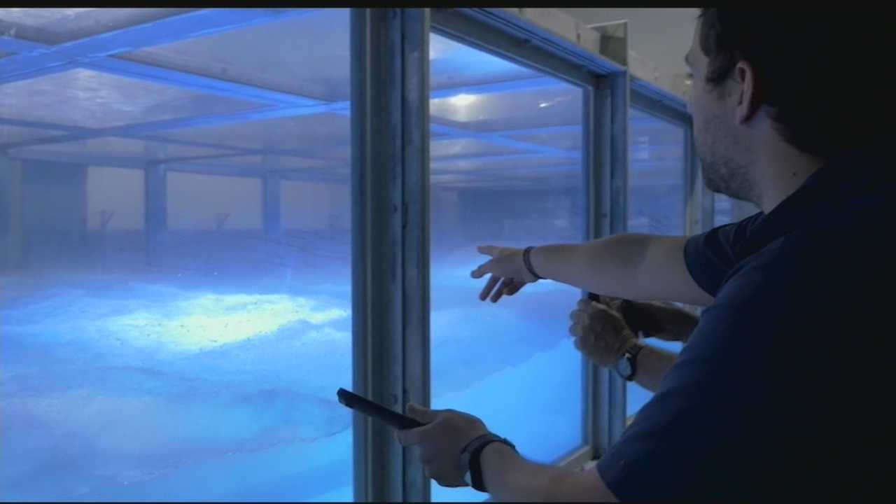 "The world's only Category 5 indoor Hurricane Simulator is churning out storms for study in South Florida. SUSTAIN, or ""Surge, Structure, Atmosphere Interaction,"" just started running operations about a month ago at the University of Miami's Rosenthiel School for Marine and Atmospheric Science."