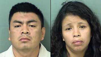 Alex Calisto, 29 and Dominga Velasquez, 28, are facing charges of child neglect.