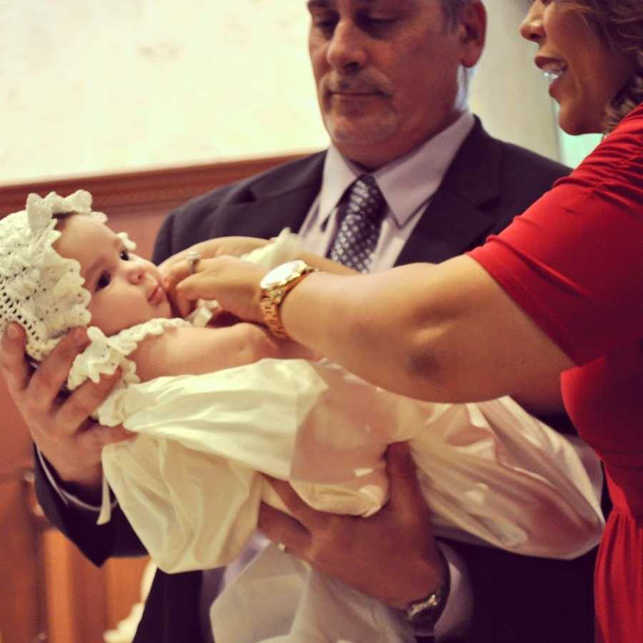 WPBF 25 anchor Felicia Rodriguez's daughter, Mia, was baptized on Sunday.