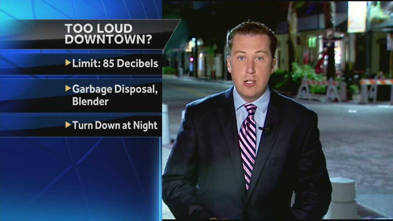 Big changes could soon be coming to the nightlife noise level in downtown West Palm Beach. Chris McGrath reports.
