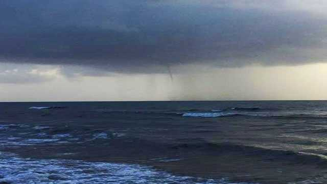 Water spout off Boynton Beach.