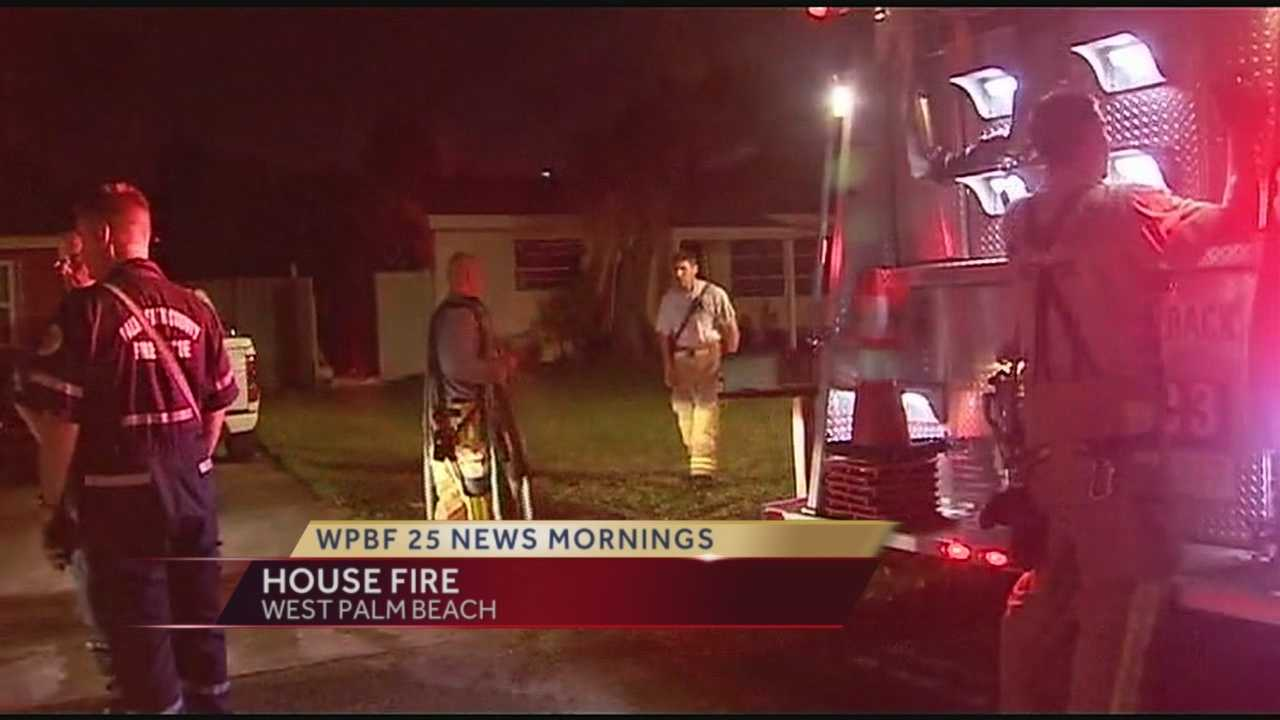 Crews made quick work of an overnight house fire, containing damage to one room inside a suburban West Palm Beach home.