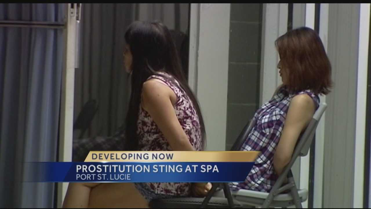 Wednesday night police and federal agents moved in on a Port St. Lucie massage parlor as part of a prostitution sting. Port St. Lucie police said undercover officers at Lily's spa were offered a sex act for money on three separate occasions.