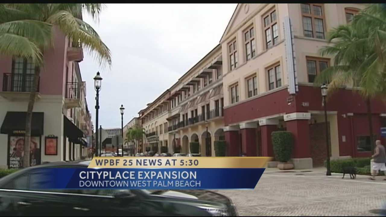 The creators of City Place are talking about expansion and that could mean more shops, restaurants and places to live could be coming to the downtown West Palm Beach downtown site.