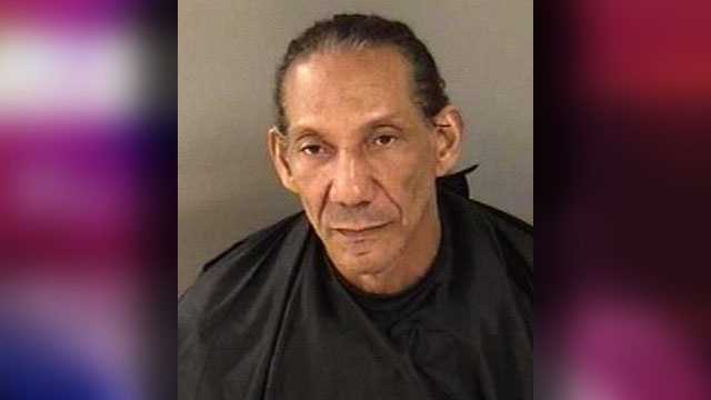 Coeneal Peacock, 65, charged with one count of human trafficking as well as one count each of possession of cocaine, possession of a controlled substance, possession of marijuana, and possession of drug paraphernalia.