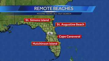 On Monday, family and friends take to the beaches looking for debris.