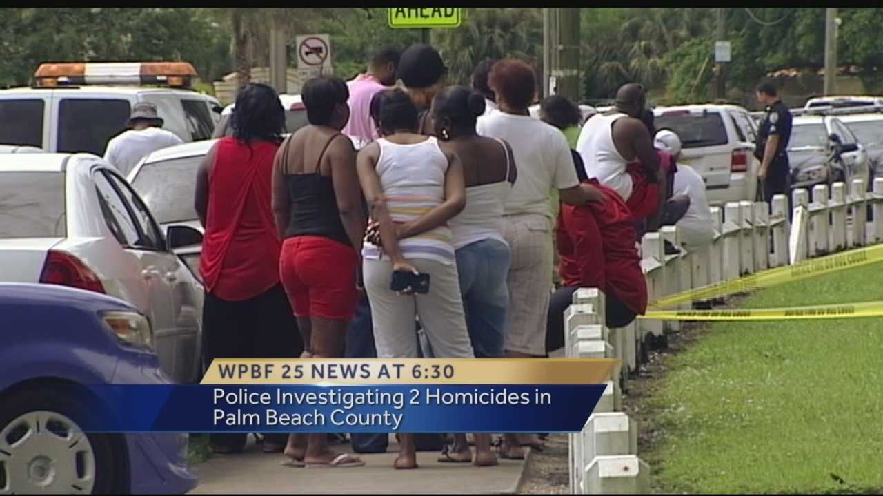 A rash of violence in Palm Beach County continues as police investigate two more homicides that happened over the weekend. One in West Palm Beach and another in Boynton Beach.