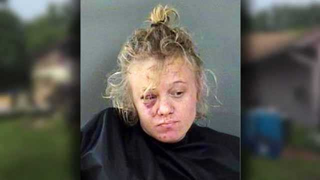Amber M. Baldwin, 27, is charged with misdemeanor battery.
