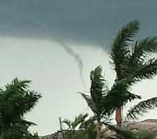 Palm Beach County was under a brief tornado warning on Monday afternoon. Here are some photos viewers took.
