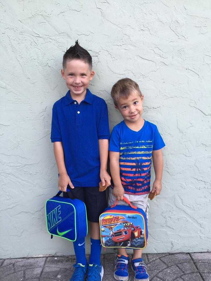 These are my grandsons, First day of 2nd grade and VPK.