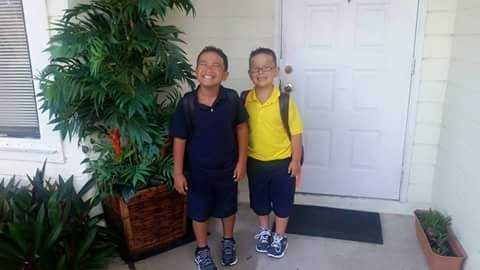 Nichalas and Joseph- first day of 3rd and 2nd grade