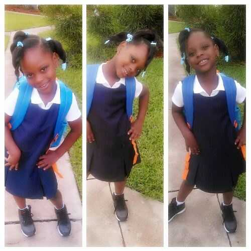 My baby Mikayla first day of school.