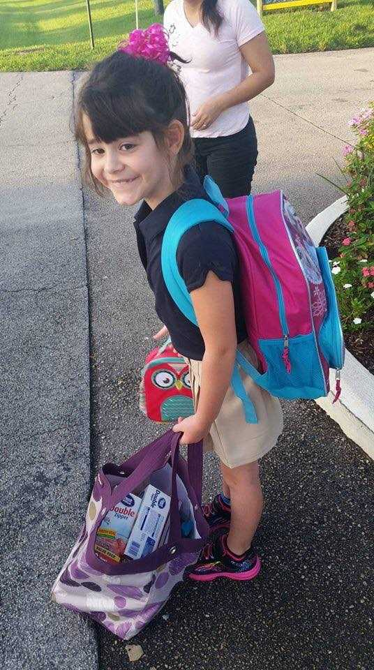 Riley Brooke starting 2nd grade.