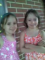 Shyanne & Shelby first day as 2nd Graders.