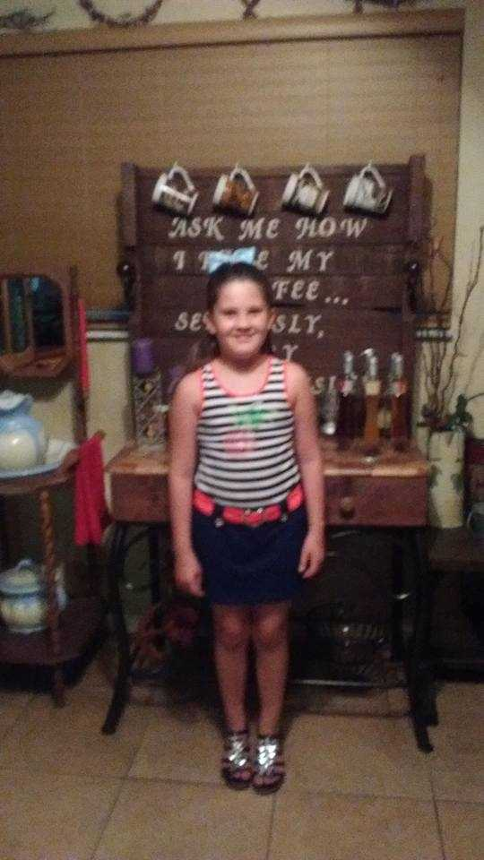 My daughter payton first day of 2nd grade