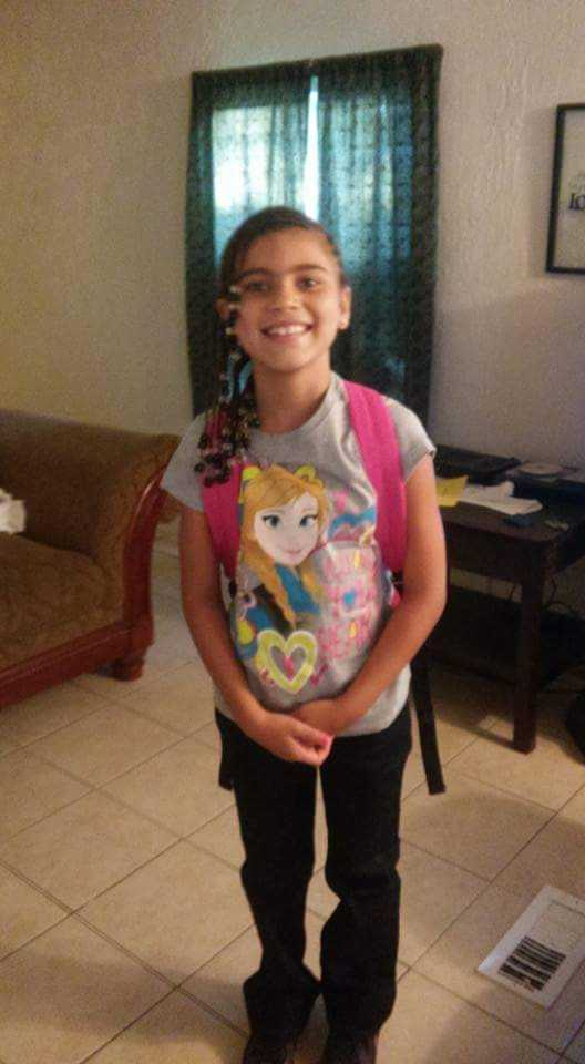 My granddaughter Brianna first day of 3rd grade.