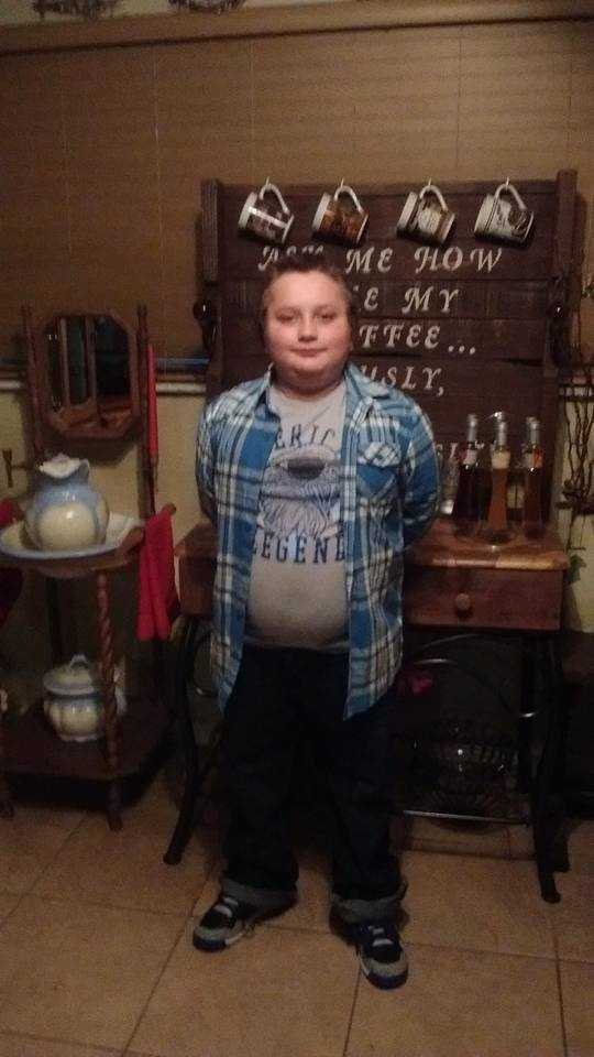 My son Austin first day of 4th grade.