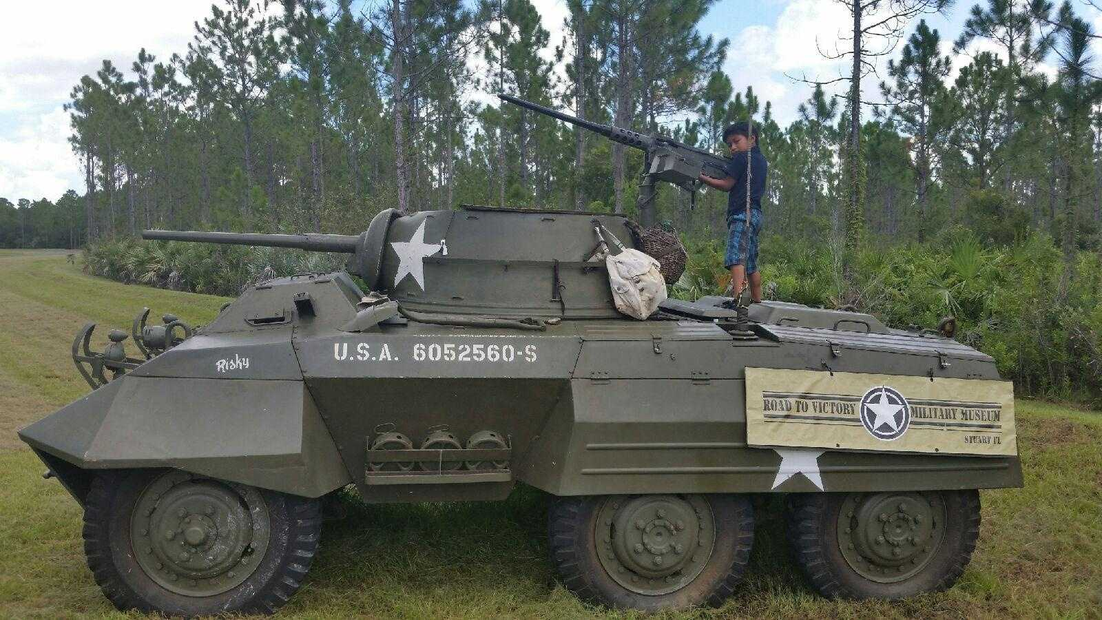 A WPBF viewer took this picture Saturday and the gun was still on the tank.