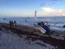 No one was injured Saturday when a small plane made an emergency landing in Riviera Beach.