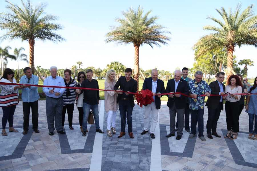 Church leaders had a ribbon cutting ceremony before each service that was attended by local officials.