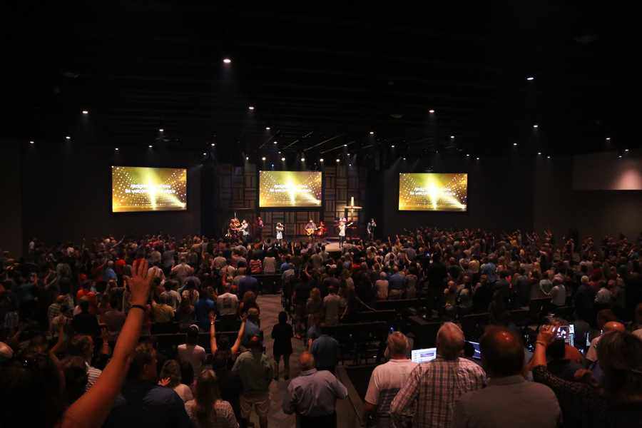 Thousands of people attended two Sunday services for the grand opening of the new building in Stuart.