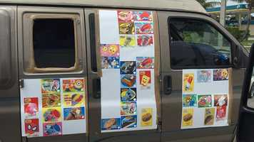 Creepy ice cream truck custom van!
