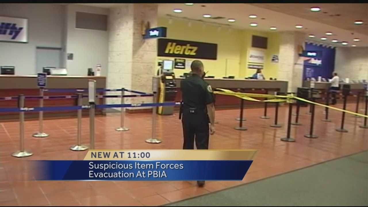Parts of Palm Beach International Airport are back open after they were evacuated when an agent with the Transportation Security Administration noticed a suspicious item in a checked bag.